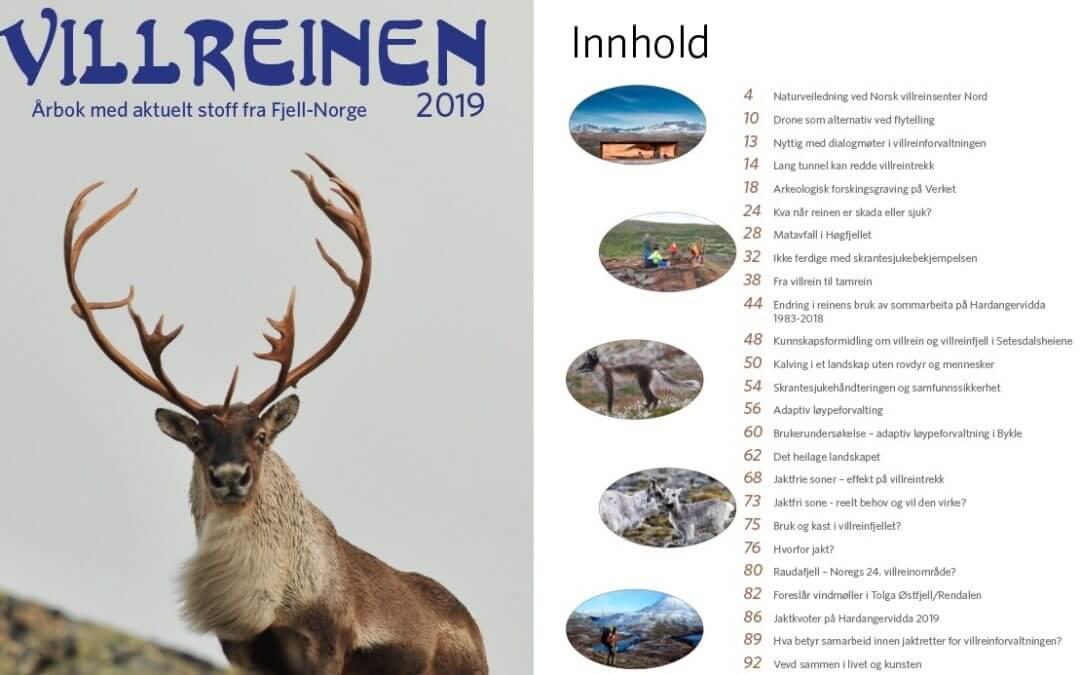 Forside og innhold Villreinen 2019