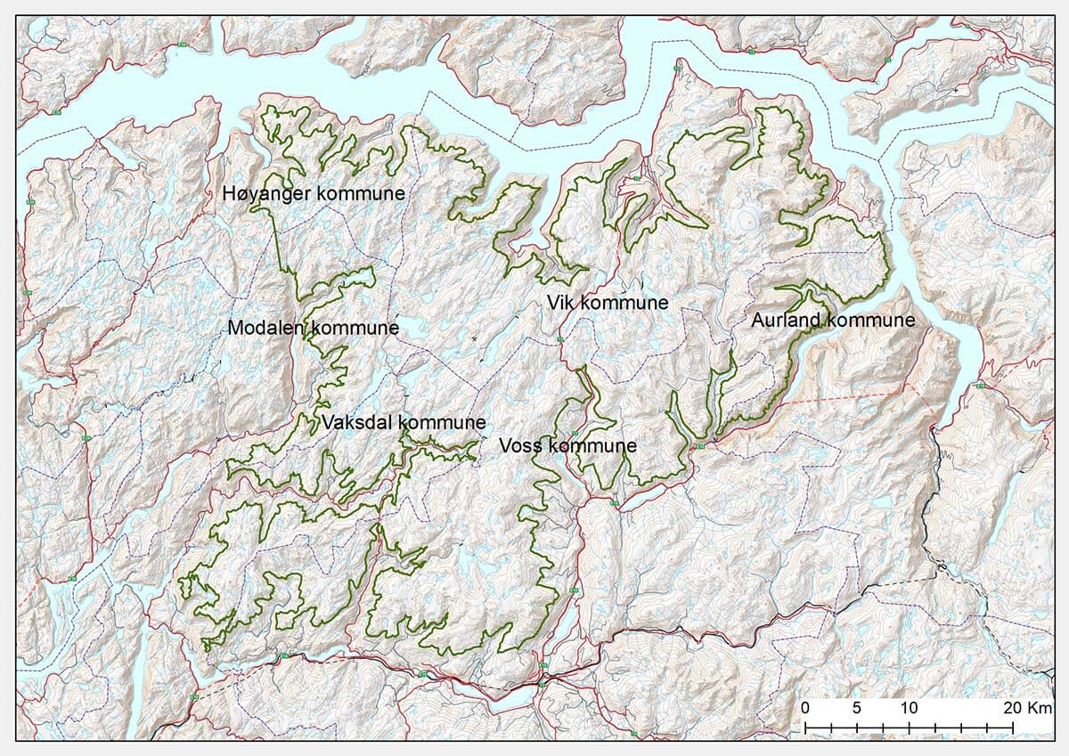 Oversiktskart Fjellheimen